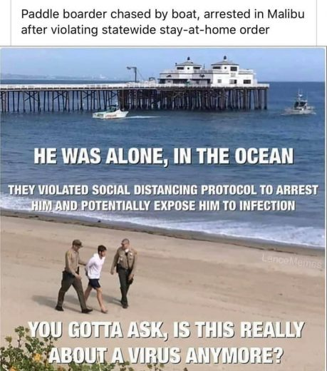 Can't do SUP in Malibu, California, with being arrested