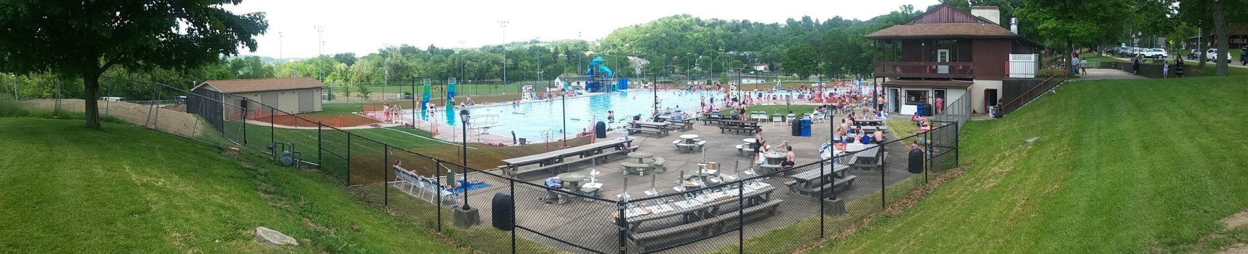 Landscape of Scott Township pool